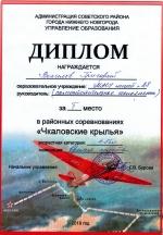 "Конкурс ""Чкаловские крылья"""